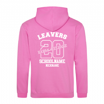 Early Release Leavers hoodie Candyfloss Pink